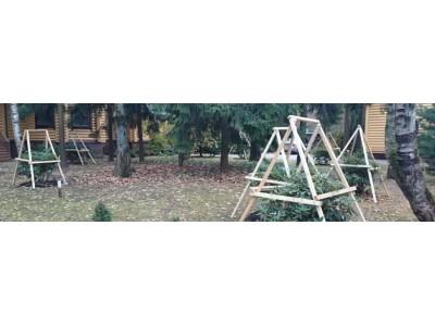 Зимнее укрытие теплолюбивых растений (магнолии, рододендроны, азалии)